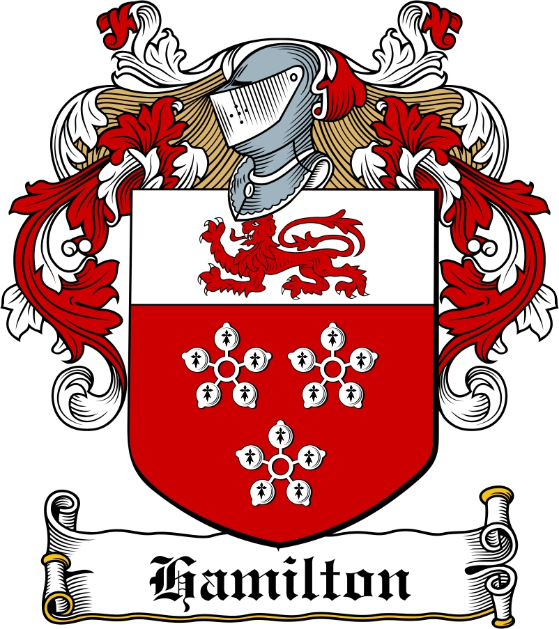 Thumbnail Hamilton Family Crest / Irish Coat of Arms Image Download