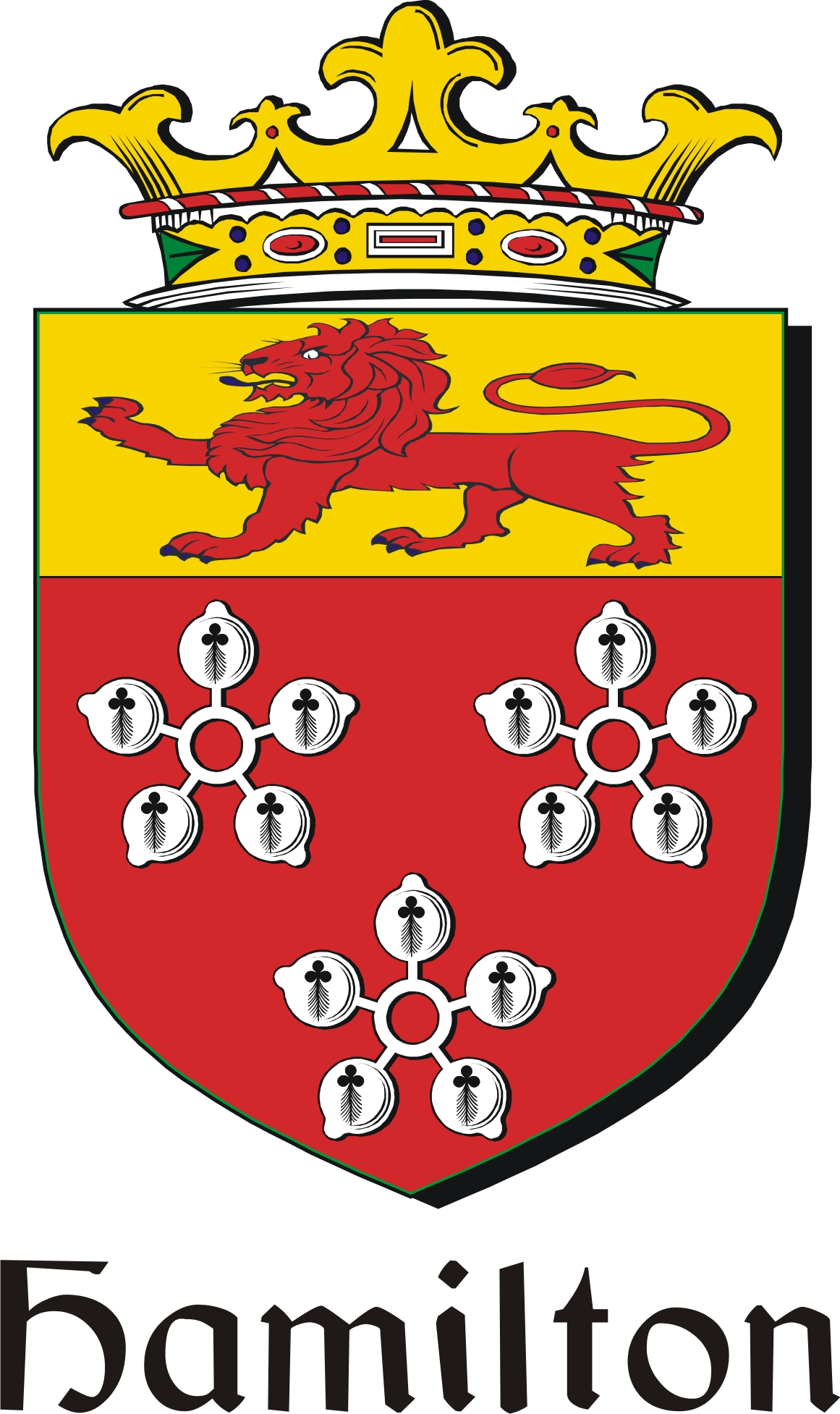 Thumbnail Hamilton2 Family Crest / Irish Coat of Arms Image Download
