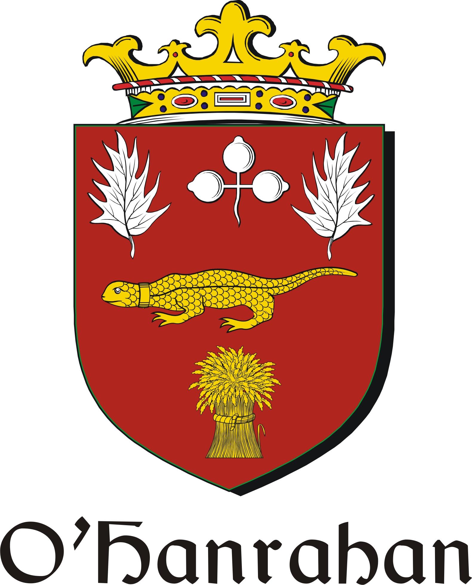 Thumbnail Hanrahan-O Family Crest / Irish Coat of Arms Image Download
