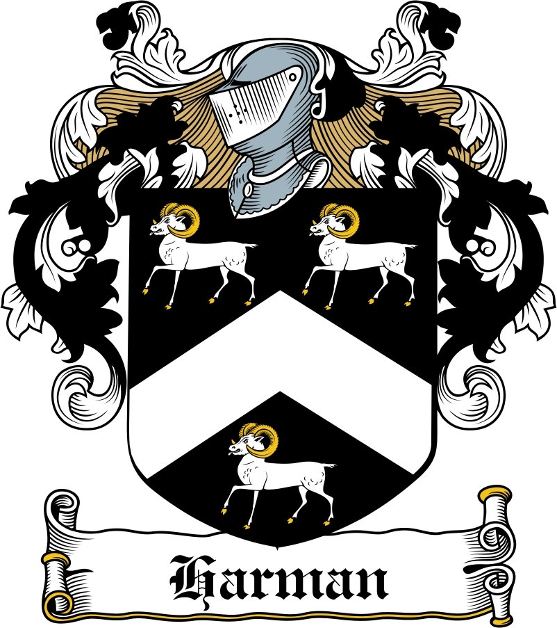 Thumbnail Harman Family Crest / Irish Coat of Arms Image Download