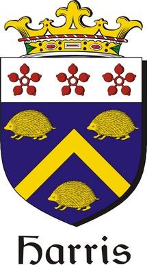 Thumbnail Harris Family Crest / Irish Coat of Arms Image Download
