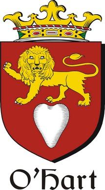 Thumbnail Hart-O Family Crest / Irish Coat of Arms Image Download
