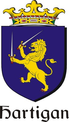 Thumbnail Hartigan Family Crest / Irish Coat of Arms Image Download