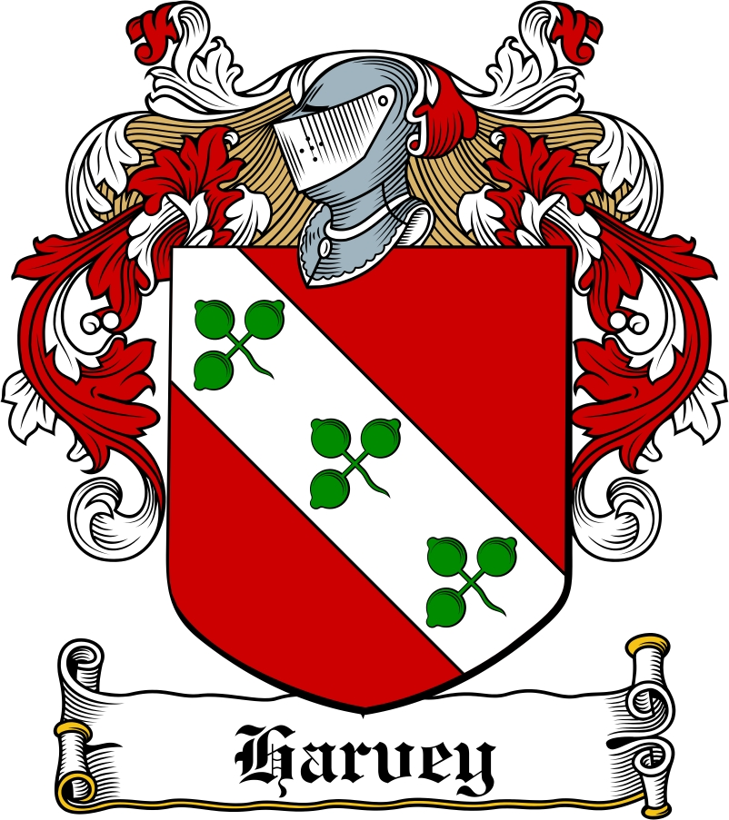 Thumbnail Harvey Family Crest / Irish Coat of Arms Image Download