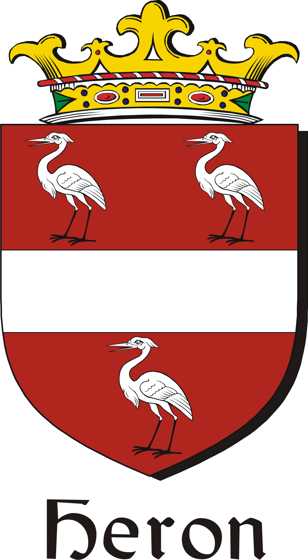 Thumbnail Heron Family Crest / Irish Coat of Arms Image Download