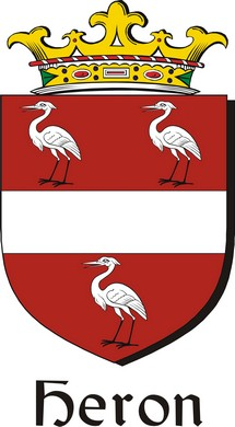 Thumbnail Heron Family Crest / Irish Coat of Arms Image Download