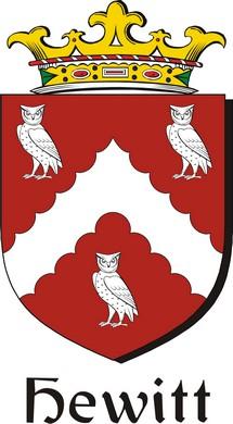 Thumbnail Hewitt Family Crest / Irish Coat of Arms Image Download