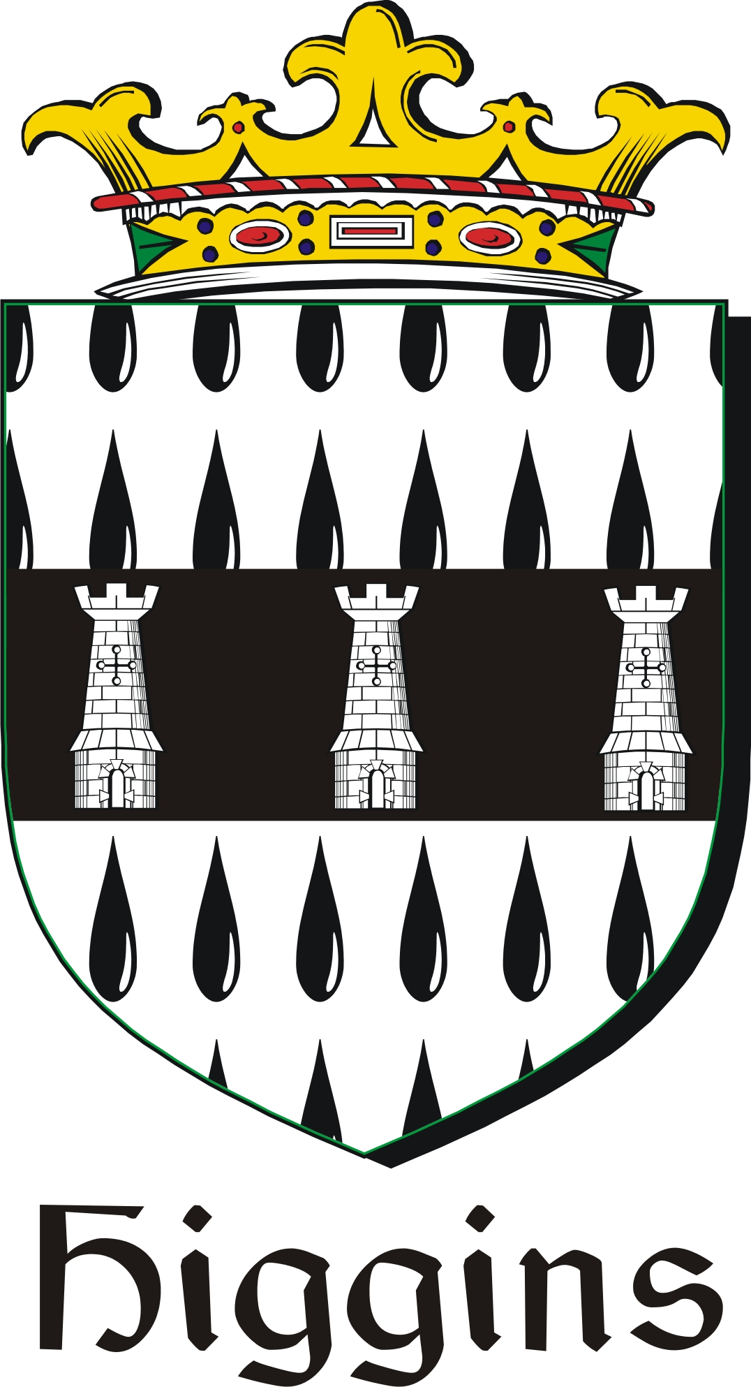 Thumbnail Higgins Family Crest / Irish Coat of Arms Image Download