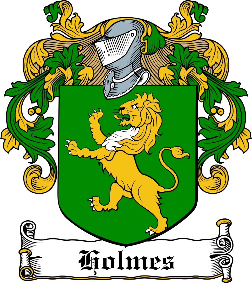 Thumbnail Holmes Family Crest / Irish Coat of Arms Image Download