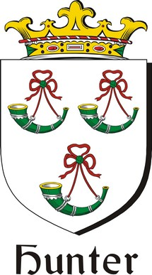 Thumbnail Hunter Family Crest / Irish Coat of Arms Image Download