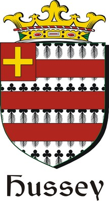 Thumbnail Hussey Family Crest / Irish Coat of Arms Image Download