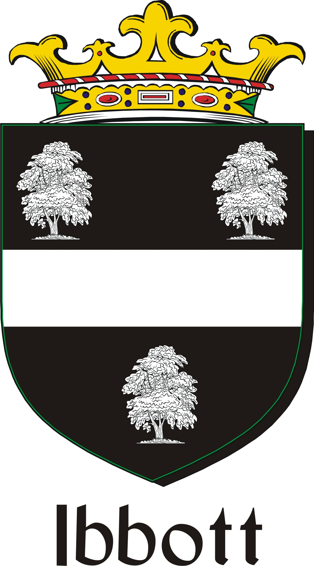 Thumbnail Ibbott Family Crest / Irish Coat of Arms Image Download