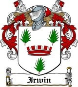 Thumbnail Irwin Family Crest / Irish Coat of Arms Image Download