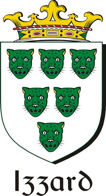 Thumbnail Izzard Family Crest / Irish Coat of Arms Image Download
