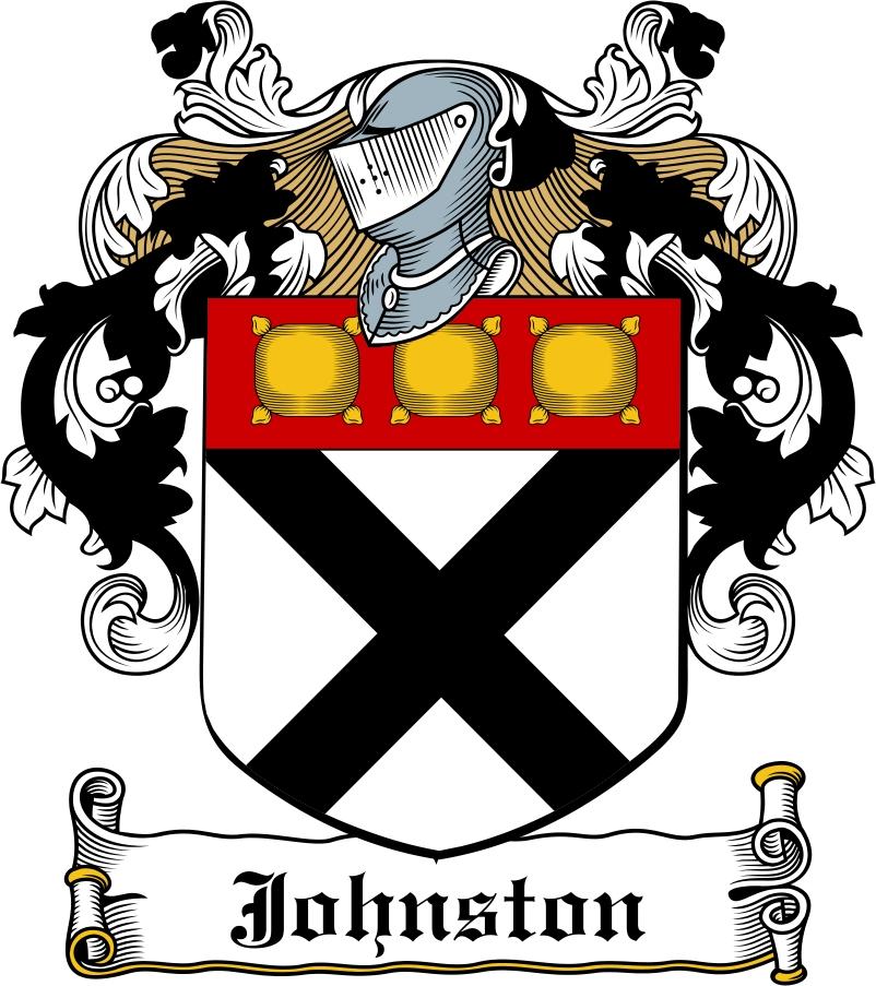 Thumbnail Johnston Family Crest / Irish Coat of Arms Image Download