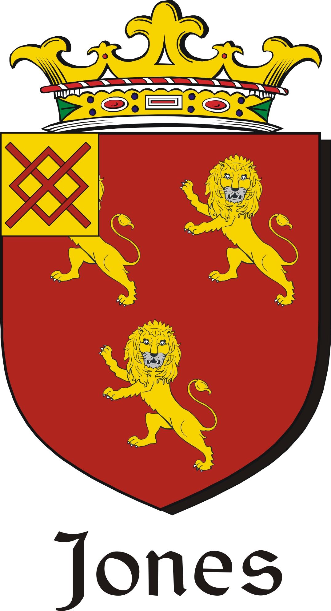 Thumbnail Jones Family Crest / Irish Coat of Arms Image Download