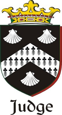 Thumbnail Judge Family Crest / Irish Coat of Arms Image Download