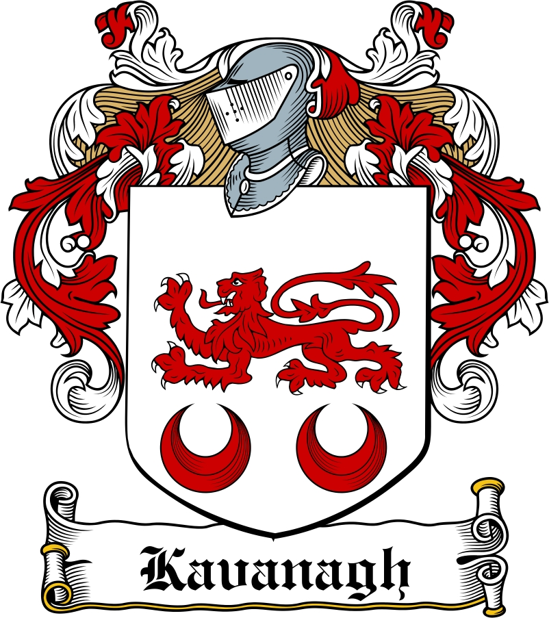Thumbnail Kavanaugh Family Crest / Irish Coat of Arms Image Download