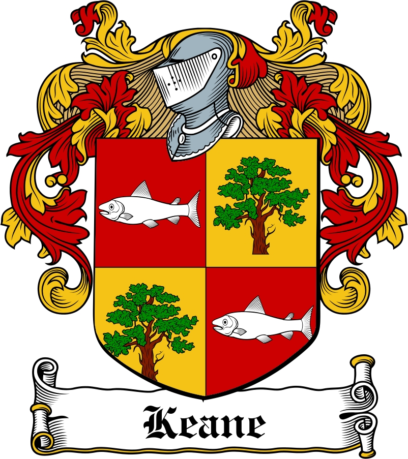 Thumbnail Keane Family Crest / Irish Coat of Arms Image Download