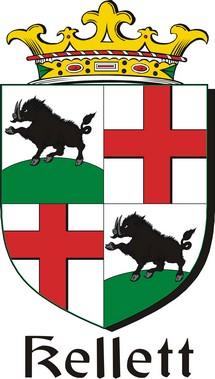 Thumbnail Kellett Family Crest / Irish Coat of Arms Image Download