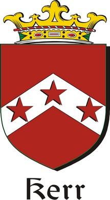 Thumbnail Kerr Family Crest / Irish Coat of Arms Image Download