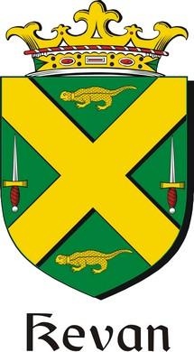 Thumbnail Kevan Family Crest / Irish Coat of Arms Image Download