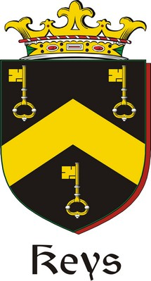 Thumbnail Keys Family Crest / Irish Coat of Arms Image Download