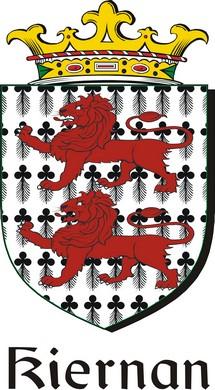Thumbnail Kiernan Family Crest / Irish Coat of Arms Image Download