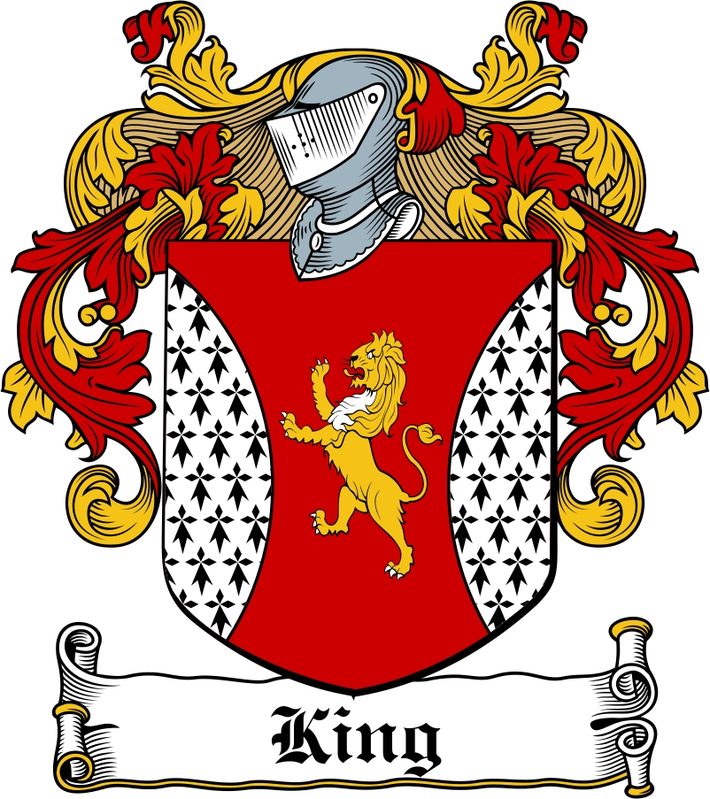 Thumbnail King Family Crest / Irish Coat of Arms Image Download