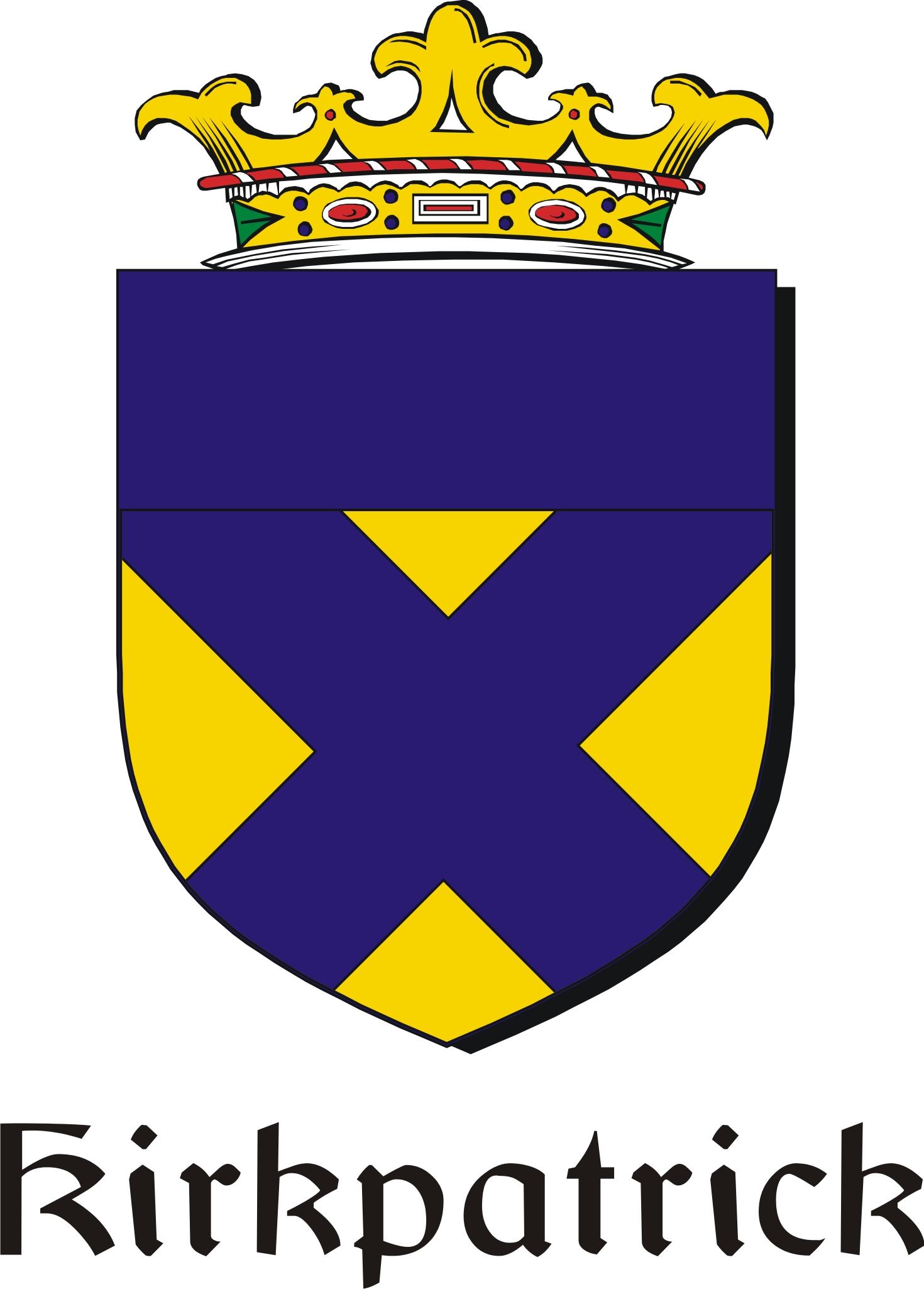 Thumbnail Kirkpatrick Family Crest / Irish Coat of Arms Image Download