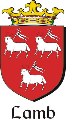 Thumbnail Lamb Family Crest / Irish Coat of Arms Image Download