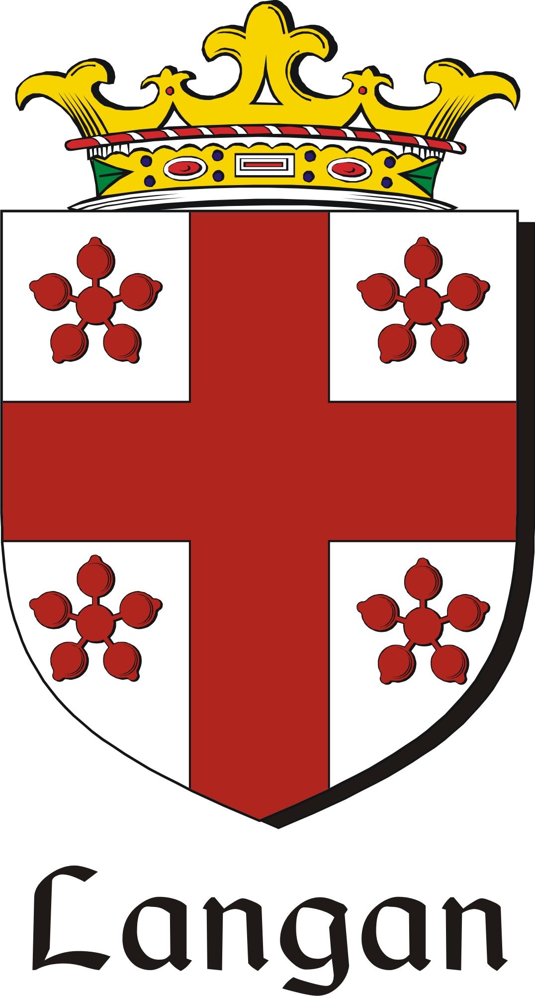 Thumbnail Langan Family Crest / Irish Coat of Arms Image Download