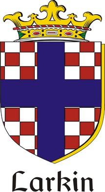 Thumbnail Larkin Family Crest / Irish Coat of Arms Image Download