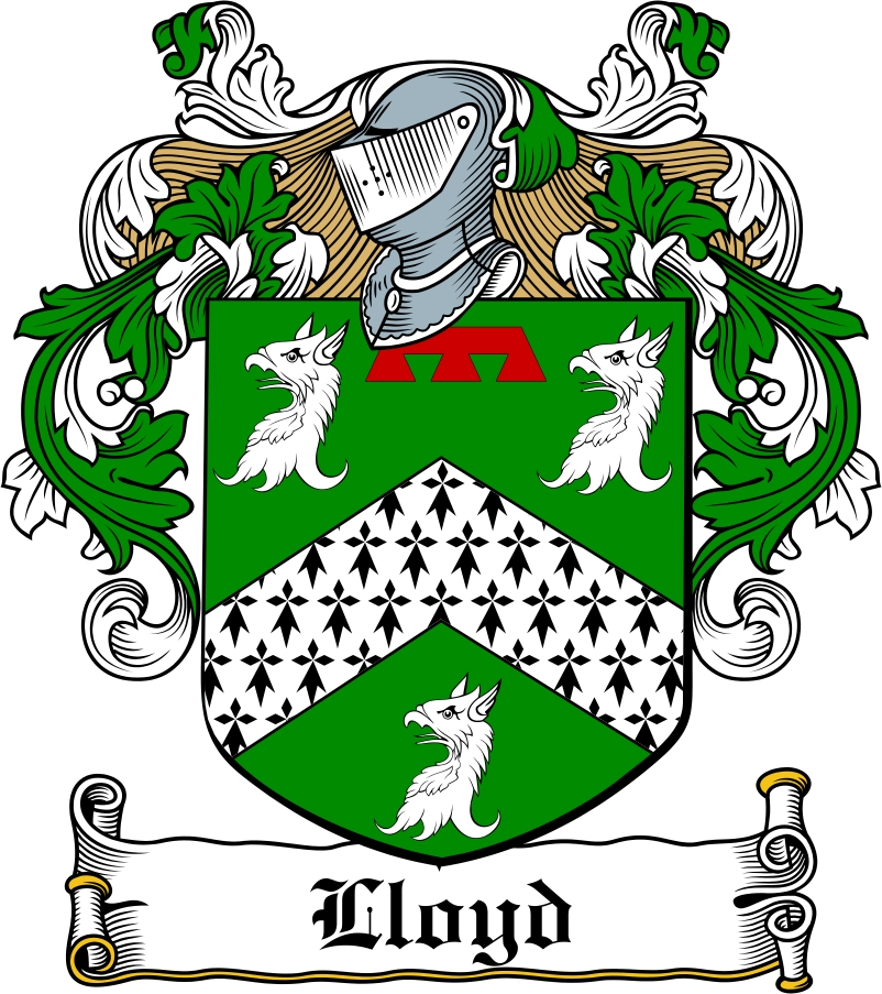 Thumbnail Lloyd Family Crest / Irish Coat of Arms Image Download