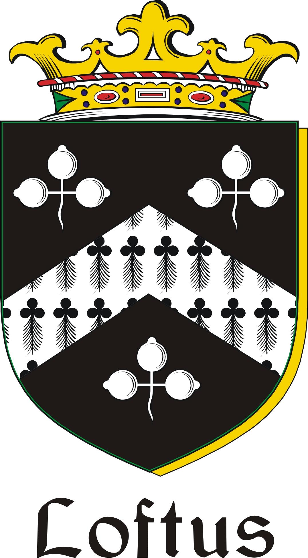 Thumbnail Loftus Family Crest / Irish Coat of Arms Image Download