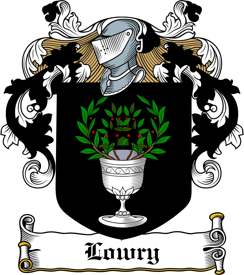 Thumbnail Lowry Family Crest / Irish Coat of Arms Image Download
