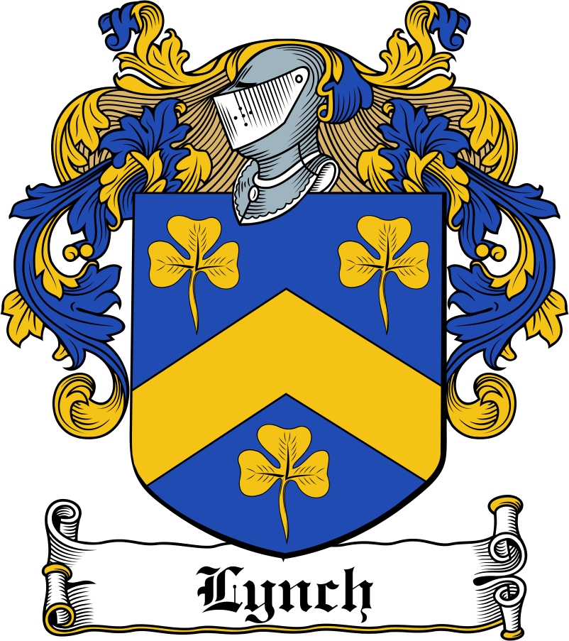 Thumbnail Lynch Family Crest / Irish Coat of Arms Image Download