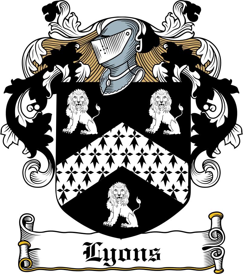 Thumbnail Lyons Family Crest / Irish Coat of Arms Image Download