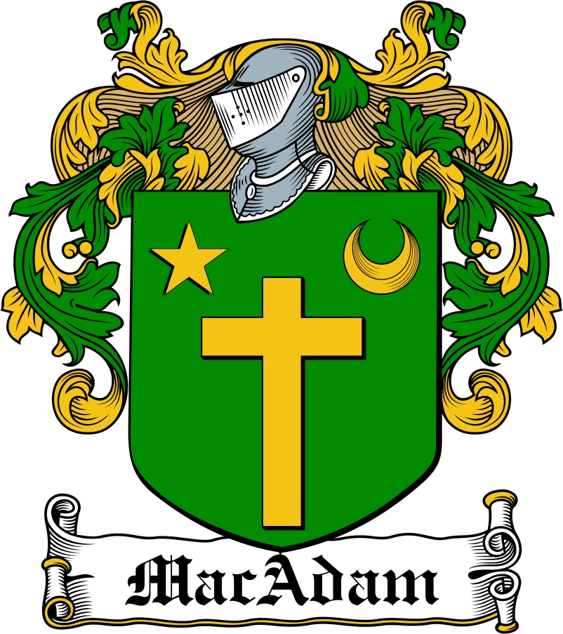 Thumbnail MacAdam Family Crest / Irish Coat of Arms Image Download