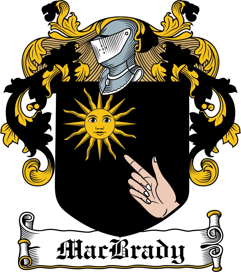 Thumbnail MacBrady Family Crest / Irish Coat of Arms Image Download