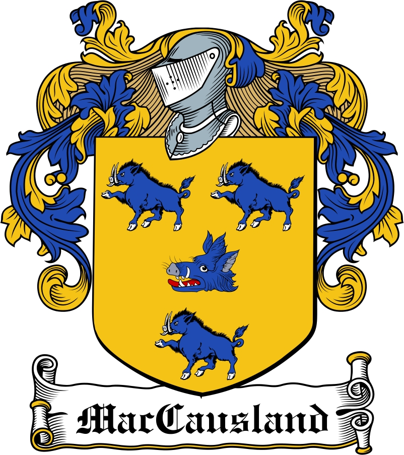 Thumbnail MacCausland Family Crest / Irish Coat of Arms Image Download