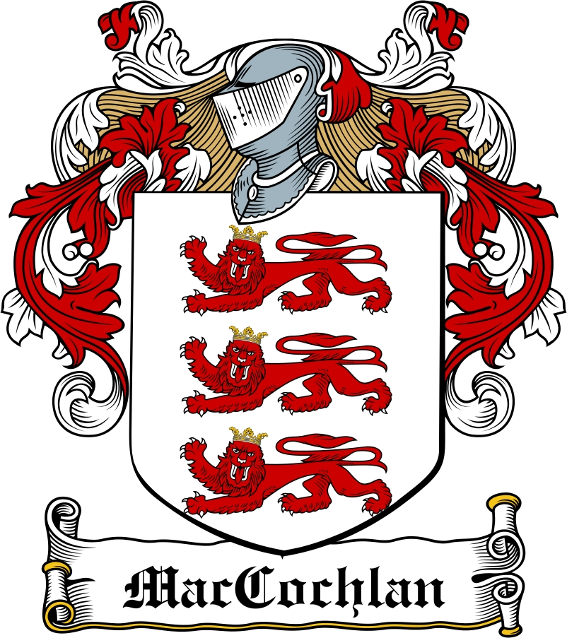 Thumbnail MacCochlan Family Crest / Irish Coat of Arms Image Download