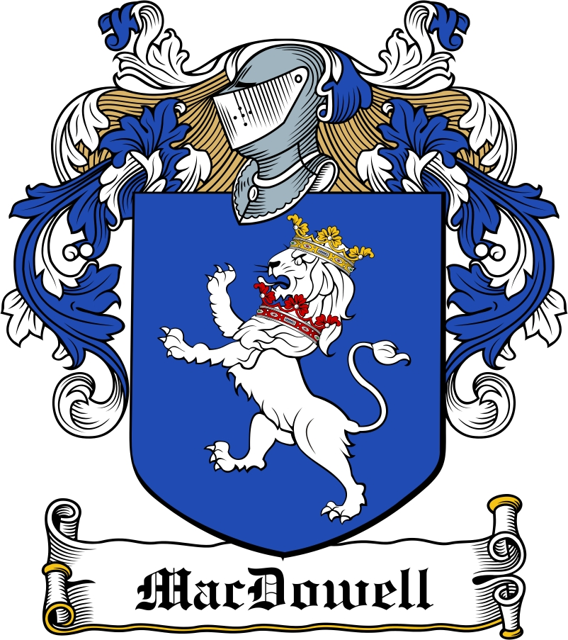 Thumbnail MacDowell Family Crest / Irish Coat of Arms Image Download
