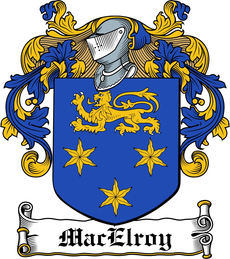 Thumbnail MacElroy Family Crest / Irish Coat of Arms Image Download
