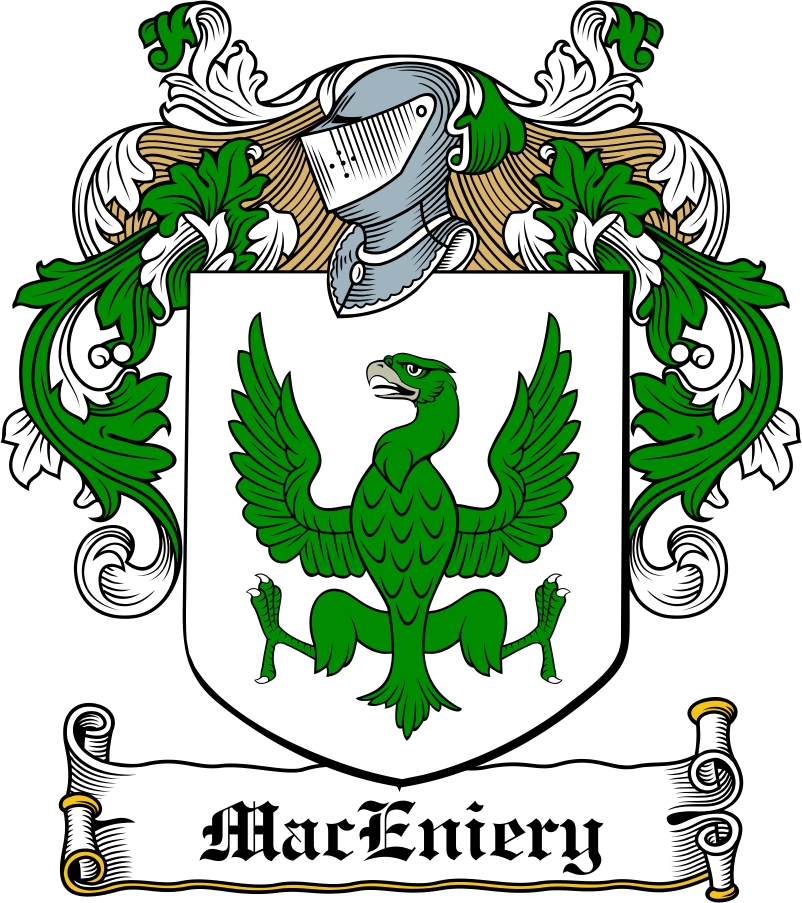 Thumbnail MacEniery Family Crest / Irish Coat of Arms Image Download