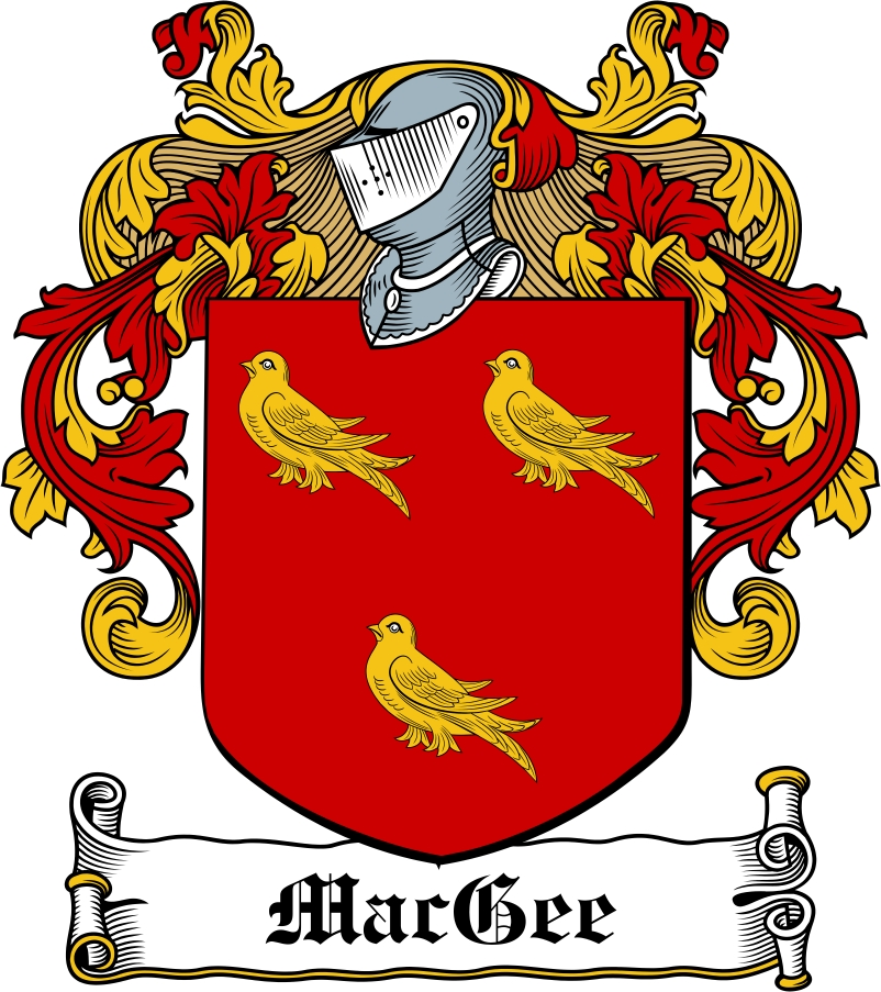 Thumbnail MacGee Family Crest / Irish Coat of Arms Image Download