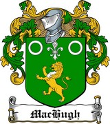 Thumbnail MacHugh Family Crest / Irish Coat of Arms Image Download
