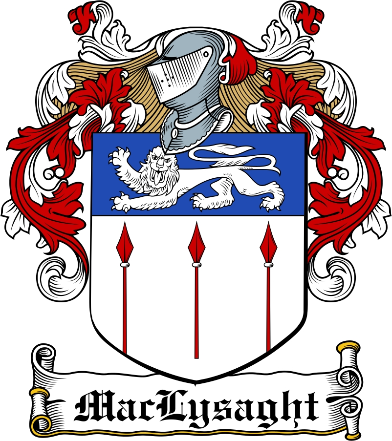 Thumbnail MacLysaght Family Crest / Irish Coat of Arms Image Download