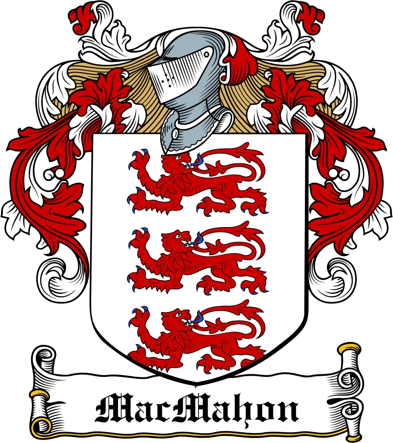 Thumbnail MacMahon Family Crest / Irish Coat of Arms Image Download