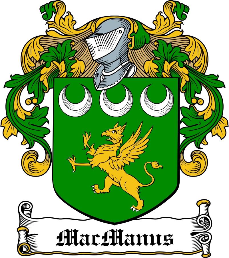 Thumbnail MacManus Family Crest / Irish Coat of Arms Image Download